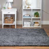 4' x 4' Soft Solid Shag Square Rug thumbnail