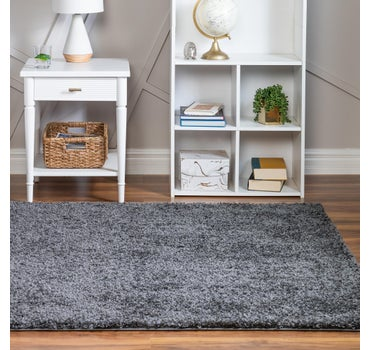 5' x 5' Soft Solid Shag Square Rug main image