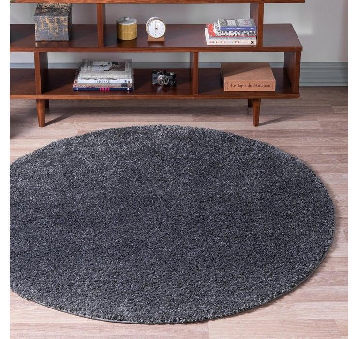 152cm x 152cm Soft Solid Shag Round Rug
