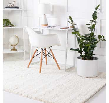Image of  White Soft Solid Shag Rug