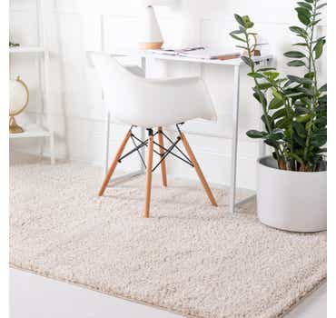 Image of  Oatmeal Beige Soft Solid Shag Rug