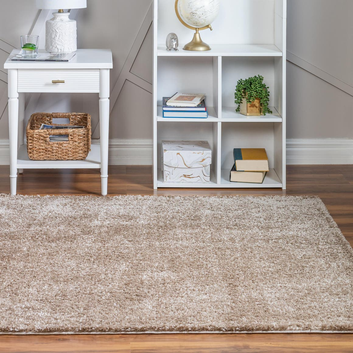 4' x 4' Soft Solid Shag Square Rug main image