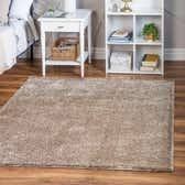 8' x 8' Soft Solid Shag Square Rug thumbnail