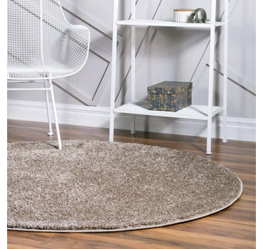 3' 3 x 3' 3 Soft Solid Shag Round Rug main image
