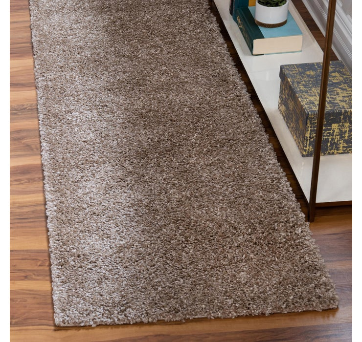 2' 7 x 10' Soft Solid Shag Runner ...