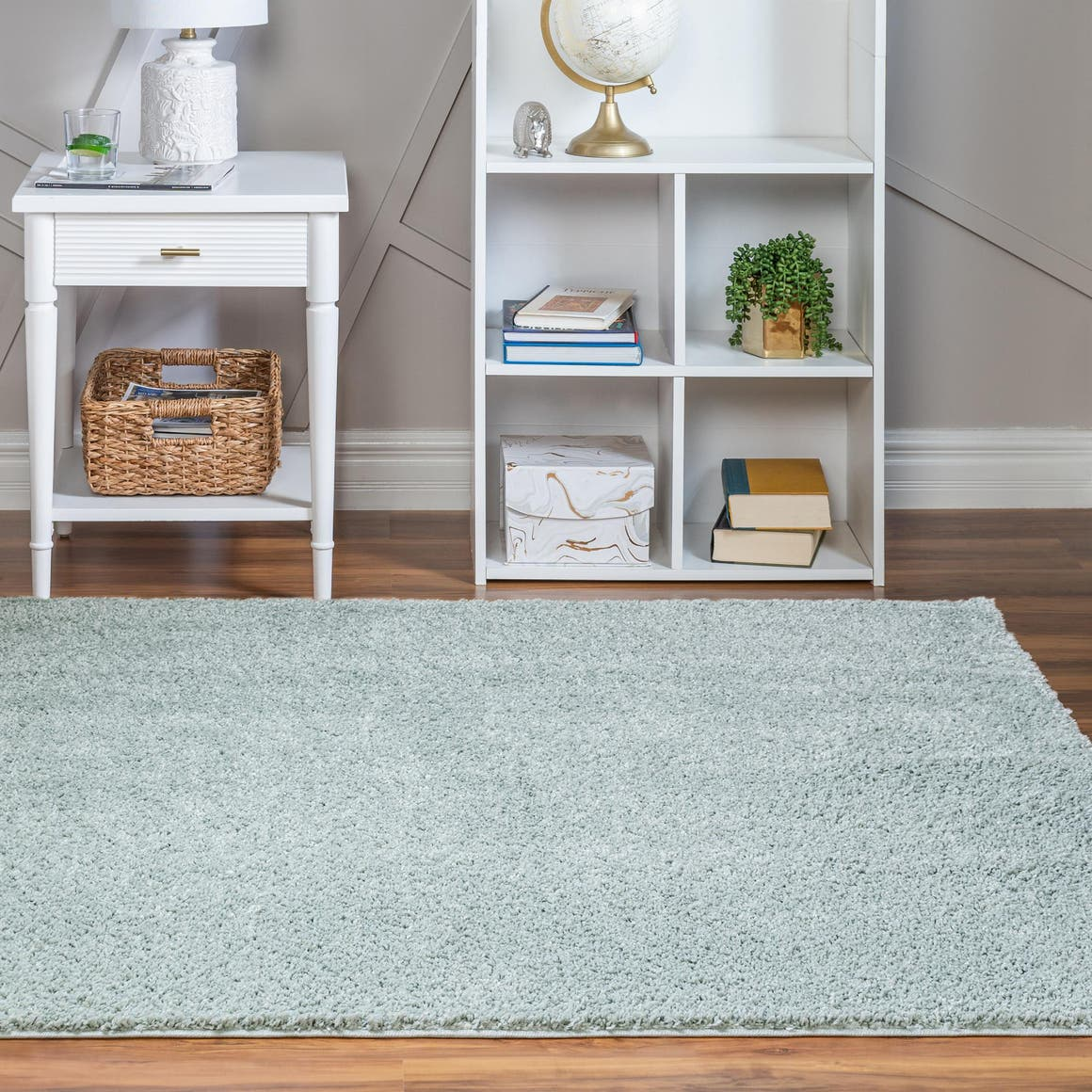 8' x 8' Soft Solid Shag Square Rug main image