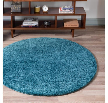 8' x 8' Soft Solid Shag Round Rug main image