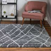 4' x 4' Soft Touch Shag Square Rug thumbnail