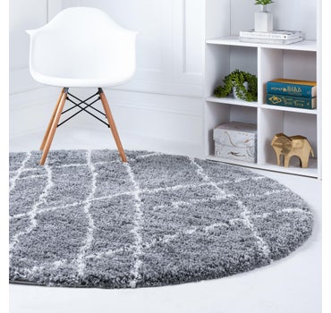 4' x 4' Soft Touch Shag Round Rug main image