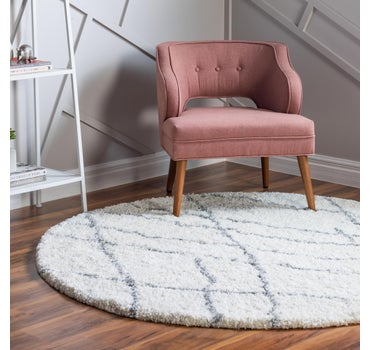 5' x 5' Soft Touch Shag Round Rug main image
