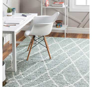 Image of  Sage Green Soft Touch Shag Rug