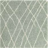 5' x 5' Soft Touch Shag Square Rug thumbnail