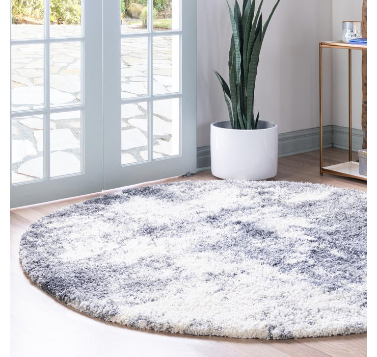 Image of 152cm x 152cm Soft Touch Shag Round Rug