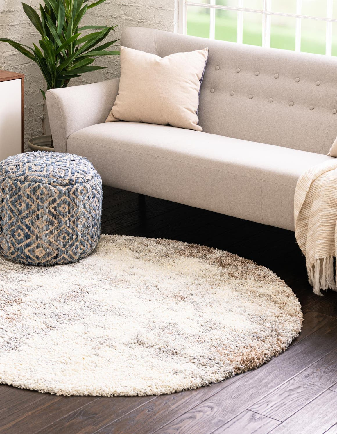 3' 3 x 3' 3 Soft Touch Shag Round Rug main image