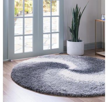 3' x 3' Soft Touch Shag Round Rug main image