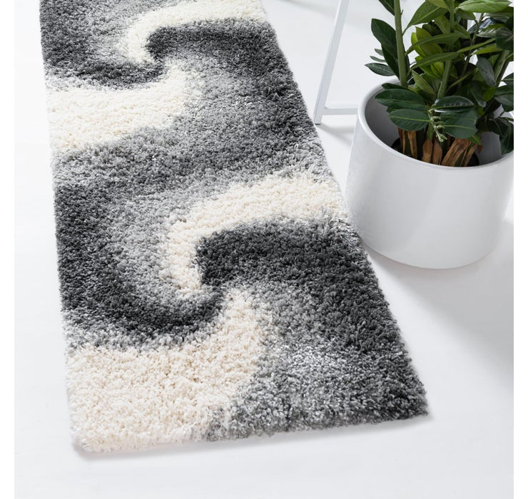80cm x 395cm Soft Touch Shag Runner ...