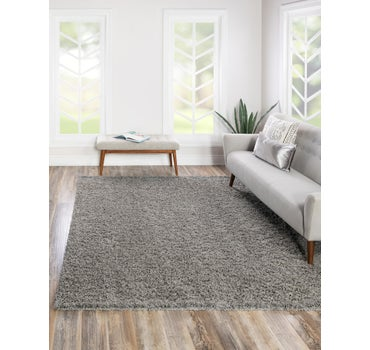 5' x 5' Solid Shag Square Rug main image