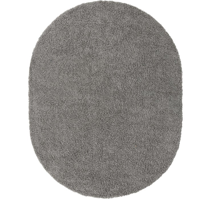 245cm x 305cm Solid Shag Oval Rug