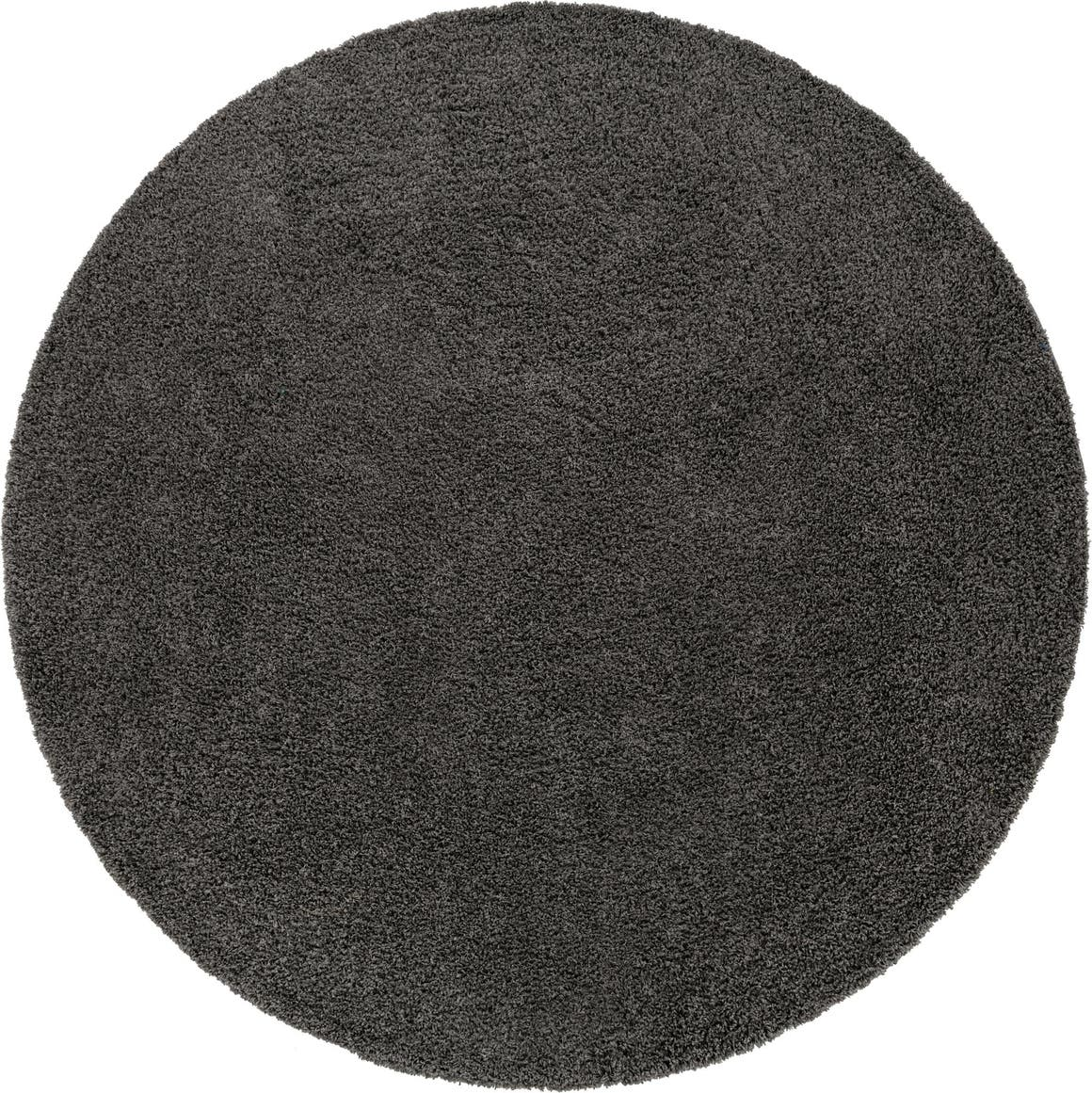 12' 4 x 12' 4 Solid Shag Round Rug main image