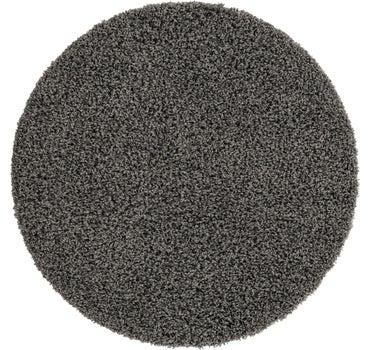4' x 4' Solid Shag Round Rug main image