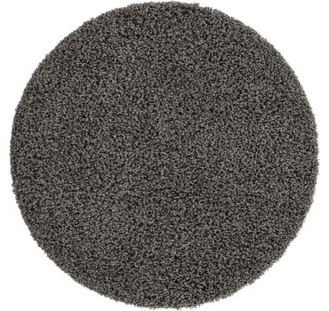4' x 4' Solid Shag Round Rug main image