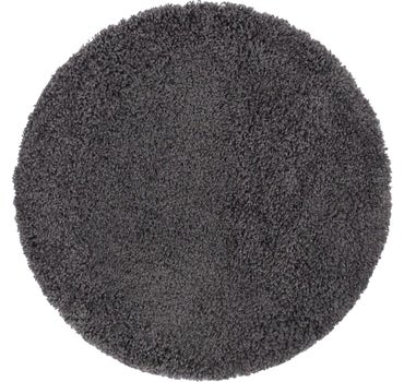 3' 3 x 3' 3 Solid Shag Round Rug main image