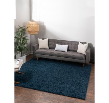 3' 3 x 3' 3 Solid Shag Square Rug main image