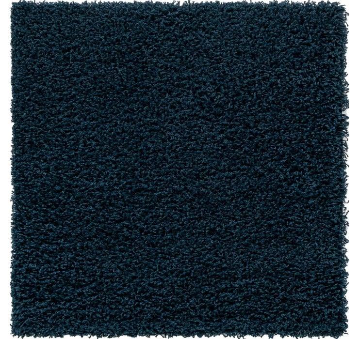 100cm x 100cm Solid Shag Square Rug