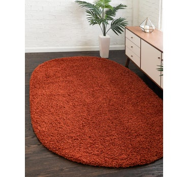 3' 3 x 5' 3 Solid Shag Oval Rug main image