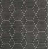 4' x 4' Trellis Frieze Square Rug thumbnail