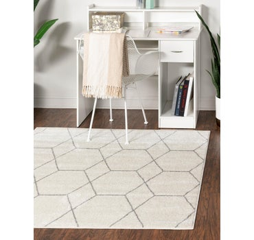3' x 3' Trellis Frieze Square Rug main image