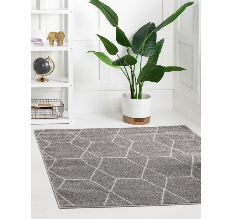 183cm x 183cm Trellis Frieze Square Rug