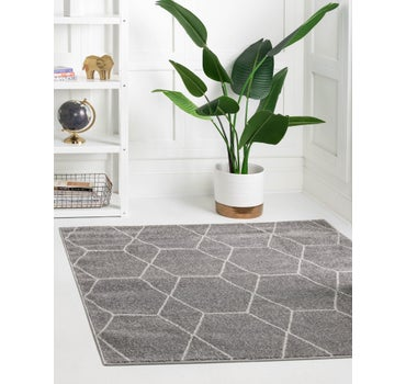 7' x 7' Trellis Frieze Square Rug main image