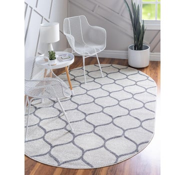 4' x 6' Trellis Frieze Oval Rug main image