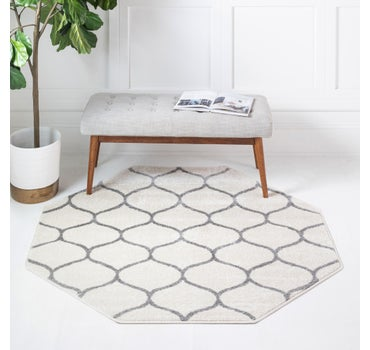 5' x 5' Trellis Frieze Octagon Rug main image