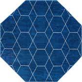 5' x 5' Trellis Frieze Square Rug thumbnail
