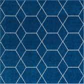 3' x 3' Lattice Frieze Square Rug thumbnail