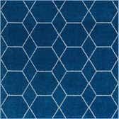 152cm x 152cm Trellis Frieze Square Rug thumbnail