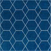 7' 10 x 7' 10 Trellis Frieze Square Rug thumbnail