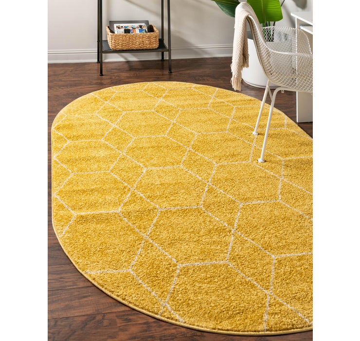 152cm x 245cm Trellis Frieze Oval Rug
