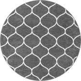3' x 3' Trellis Frieze Round Rug thumbnail