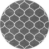 6' x 6' Trellis Frieze Round Rug thumbnail