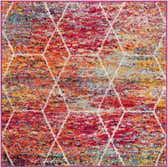 3' x 3' Trellis Frieze Square Rug thumbnail
