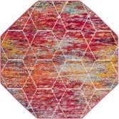 5' x 5' Trellis Frieze Octagon Rug thumbnail