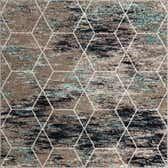 7' x 7' Trellis Frieze Square Rug thumbnail