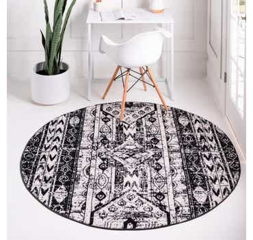Image of  Black and White Oregon Round Rug