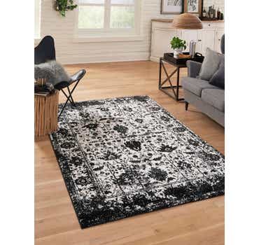 Black and White Oregon Rug