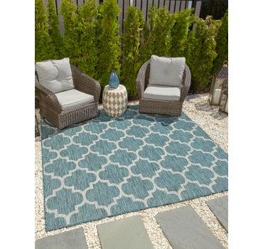 8' x 8' Outdoor Trellis Square Rug main image