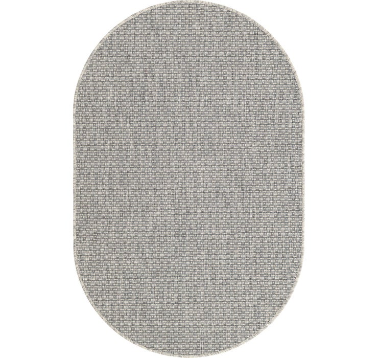 100cm x 160cm Outdoor Solid Oval Rug
