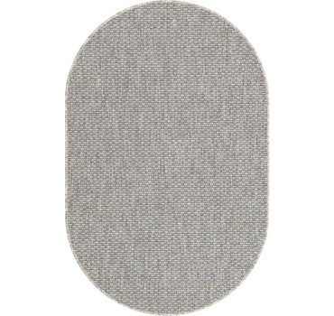 3' 3 x 5' 3 Outdoor Solid Oval Rug main image